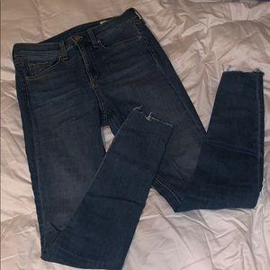 Rag&Bone hi-rise skinny ankle jeans